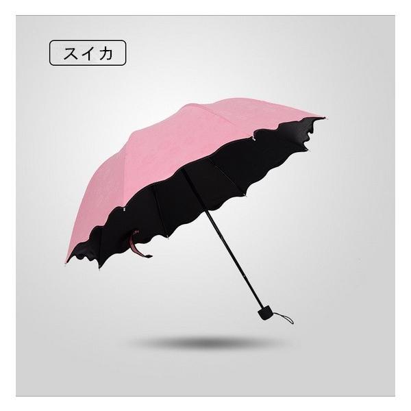 日傘 雨傘 UVカット 晴雨兼用傘 遮光 遮熱 軽量 涼しい 花柄 紫外線カット 紫外線対策 傘 折り畳み傘 レディー 雨具 3段折りたたみ式|liz-store|05