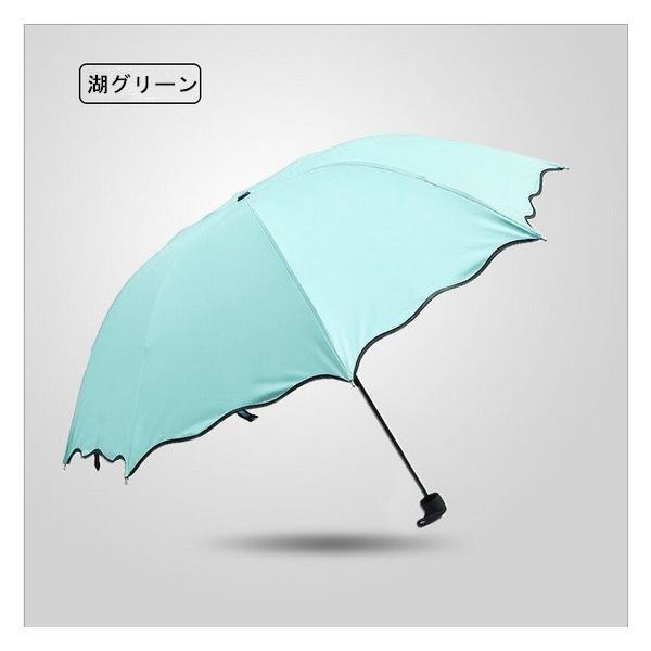 日傘 雨傘 UVカット 晴雨兼用傘 遮光 遮熱 軽量 涼しい 花柄 紫外線カット 紫外線対策 傘 折り畳み傘 レディー 雨具 3段折りたたみ式|liz-store|06