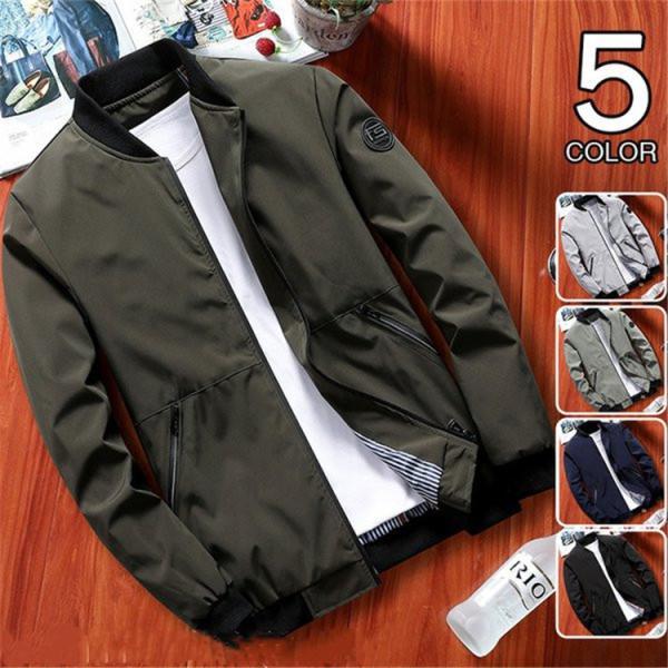 ブルゾンメンズジャケットアウターフライトジャケット無地40代50代ファッションジャンパー秋服