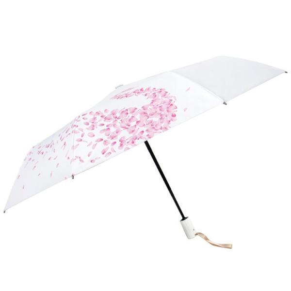 日傘 折りたたみ傘 レディース おしゃれ 軽量 晴雨兼用 自動開閉 折りたたみ傘 花柄 白鳥柄 UVカット ワンタッチ 遮光 遮熱 3段折りたたみ  雨傘 紫外線対策|liz-store|07