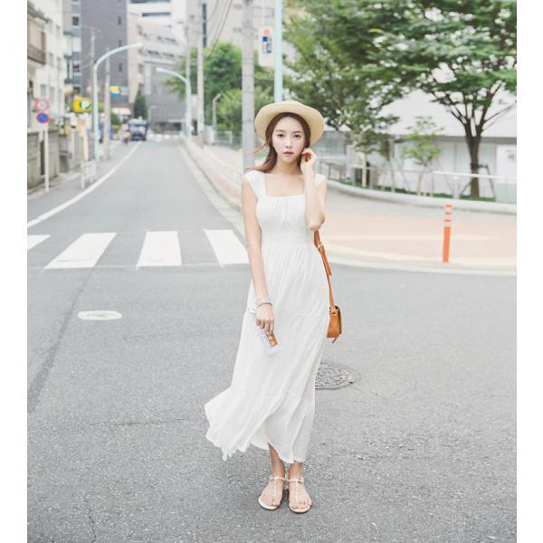 8554b8e23b058 ... マキシワンピース シフォンワンピース ドレス マキシ丈ワンピース 結婚式 白 ホワイト 春 ロング ノースリーブ マキシ ...