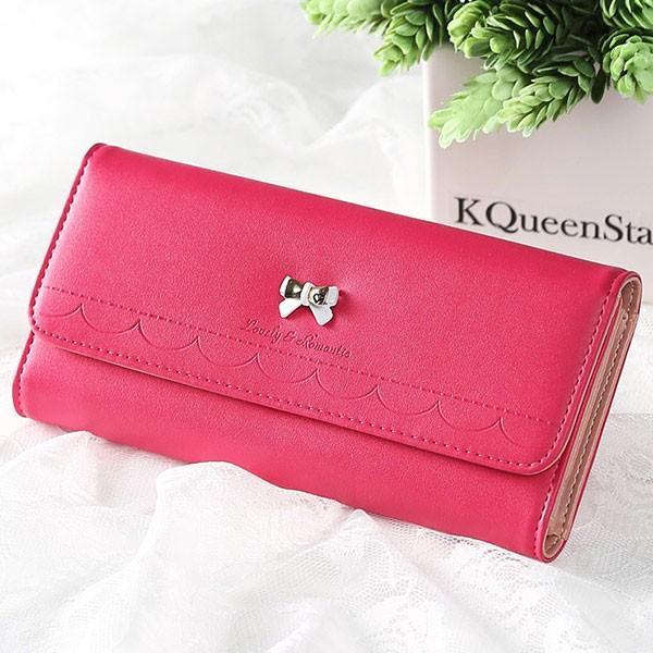 【ピンク他全6色】可愛い長財布 レディース 女性へのプレゼントに最適な長財布 レディース長財布 レディース財布 婦人財布