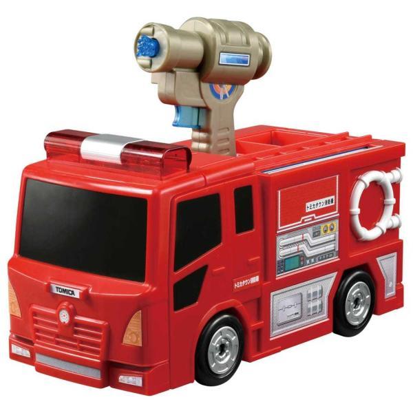 トミカワールドぴゅぴゅっと消火おしごと変形消防署 タカラトミー