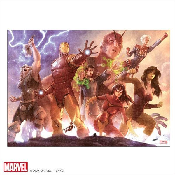 マーベル1000ピース  Avengers Team Iron Man【ピュアホワイト】(38.2×53.2cm)(RPG-1000-632)【ディズニーパズル】