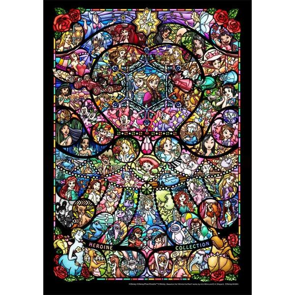 ディズニー266ピース ディズニー&ピクサー ヒロインコレクション ステンドグラス   ぎゅっと【ピュアホワイト】 (18.2x25.7cm) (DPG-266-576)