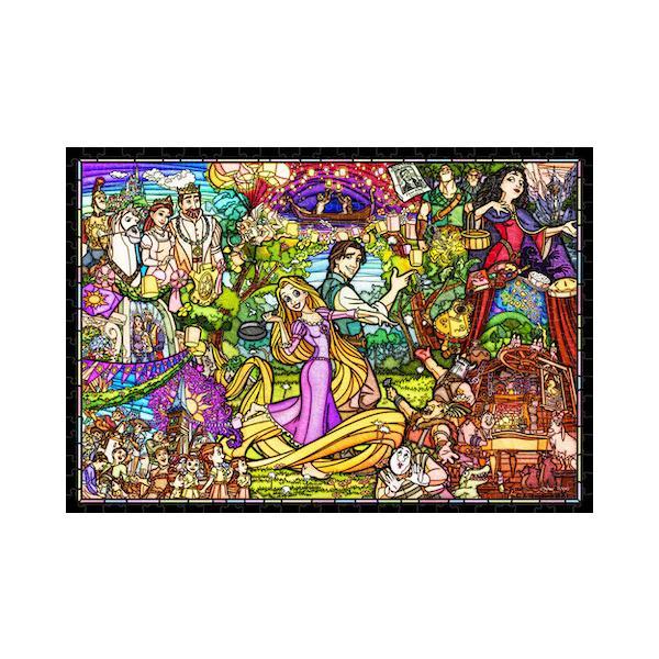 ディズニー ステンドアートジグソー ぎゅっと500ピース 塔の上のラプンツェル ストーリーステンドグラス (DSG-500-622)【ディズニーパズル】(25x36cm)