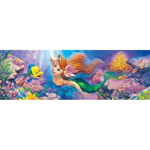 456ピース ディズニー リトル・マーメイド 憧れの世界へ…  ぎゅっとシリーズ 【ステンドアート】(18.5x55.5cm) (DSG-456-713)【ディズニーパズル】