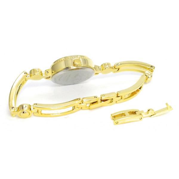 星空猫ブレス ゴールド/ブルー ブレスレットウォッチ レディース腕時計 C07416A-GD