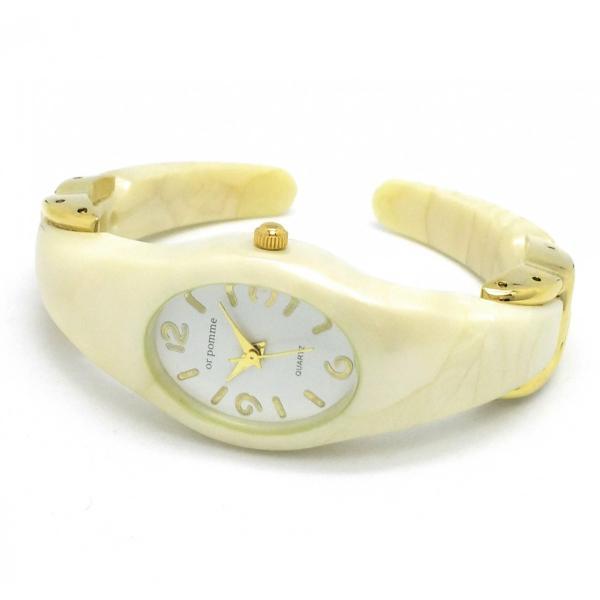 たかつめバングルウォッチ レディース腕時計 バングル (ブレスレットタイプ) D00914A-GD/WH