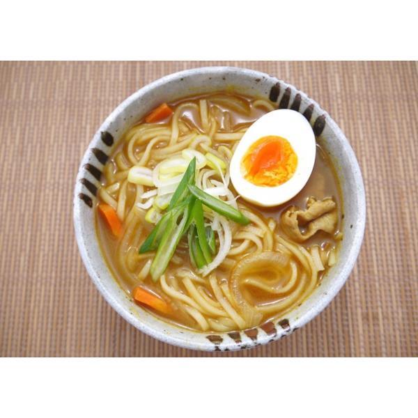 「笑いーと」「米粉麺」いわき米粉麺 カレーうどん(白米めん(中太・2個)カレースープ(2袋))|localtoglobal|03