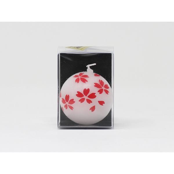 「山形屋本店」会津手描き絵ろうそく 浮き玉白×2個セット