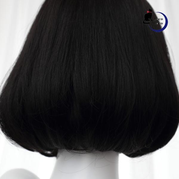 【即納】ウィッグ ボブ ブラック 黒髪 自然 ファッションウィッグ ゆめかわ ロリータ クール 耐熱   LocoLoco