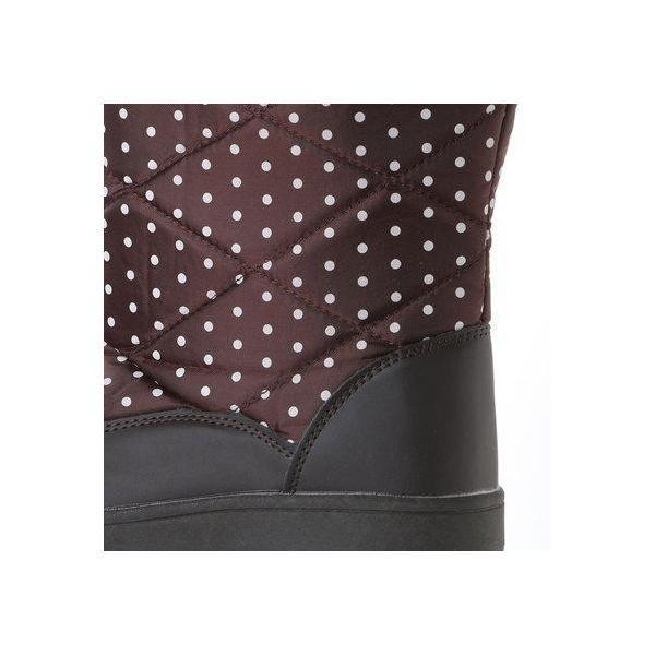 エニーウォーク Anywalk 防寒ブーツ ボア付き保温効果の高いニット素材使用・aw_17688(ダークブラウン) (D.DROWN)