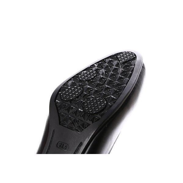 glitter エーシーデザイン バイ アルファキュービック ALPHA CUBIC 本革屈曲モールド底ラウンドトウパンプス (ブラック)