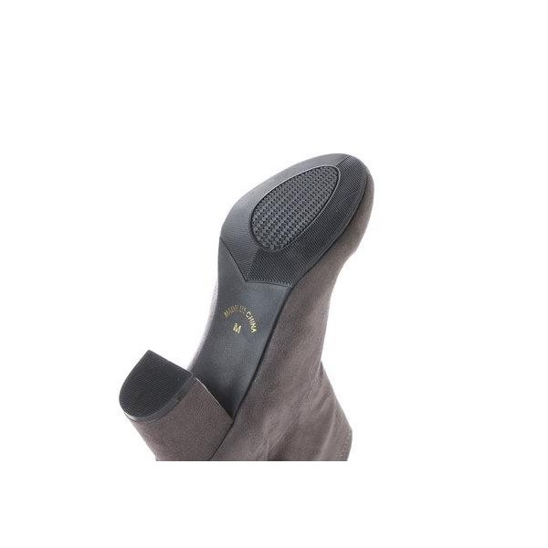 アタガール attagirl 6.5cmヒール バックジッパー ストレッチ ブーツ (グレースエード)