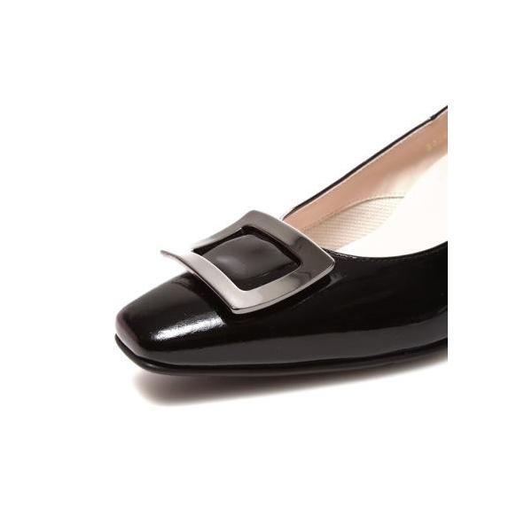 ビューフォートエレガンス BeauFort elegance EEウイズウォーキングパンプス(ブラックエナメル)