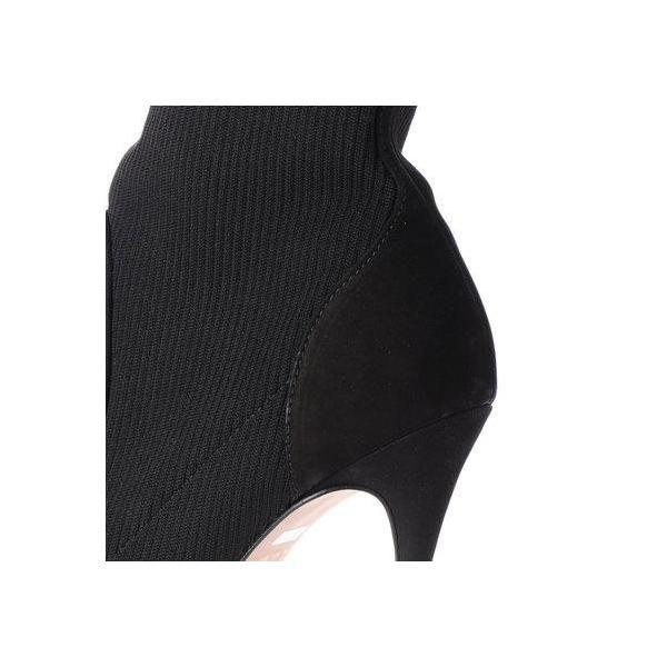 カラーノ CARRANO ピンヒールストレッチショートブーツ (ブラックコンビ)