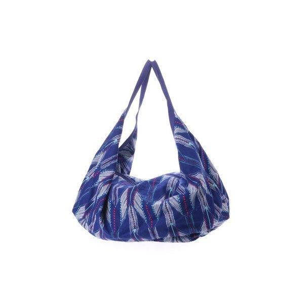 【チャイハネ】ブルーナバルーンシルエットバッグ ブルー