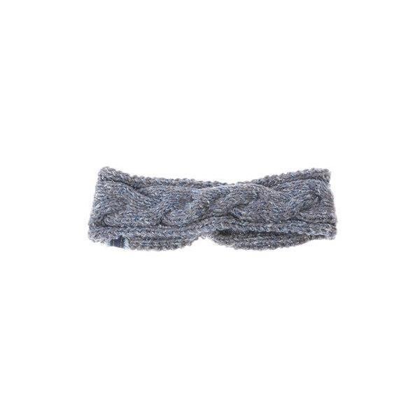 【チャイハネ】縄編みハンドニットヘアバンド ネイビー