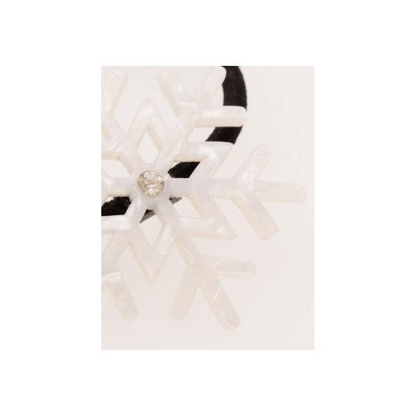 【チャイハネ】雪の結晶ノンパチヘアゴム ホワイト