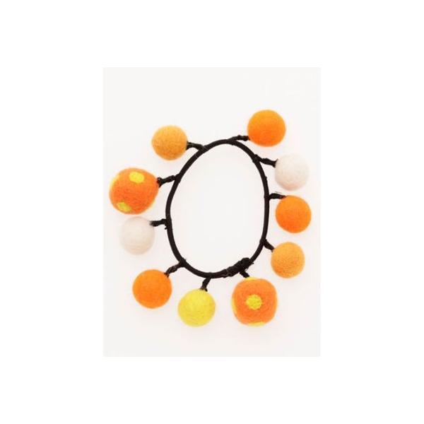 【チャイハネ】ポッティフェルトヘアゴム オレンジ