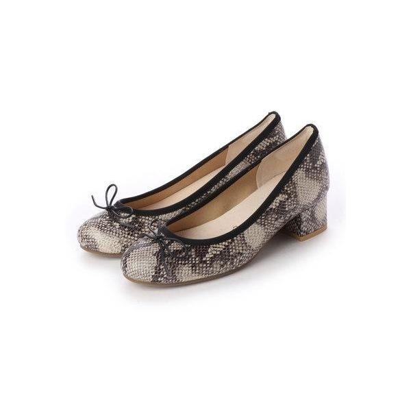 クロエフランシス CHLOE FRANCIS 4cmヒール バレエシューズ (BEG 蛇)