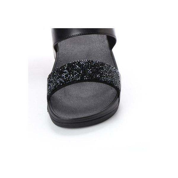 フィットフロップ FitFlop SPARKLIE ROXY SLIDE (Black)