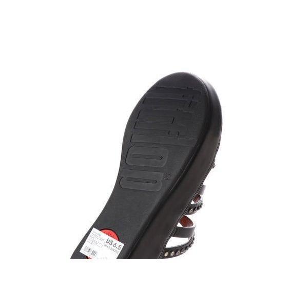 フィットフロップ FitFlop LINNY SLIDE SANDALS - CRYSTAL (Black)