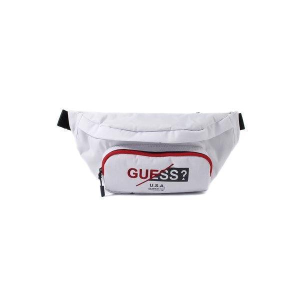 ゲス GUESS LOGO WAIST BAG (WHITE)