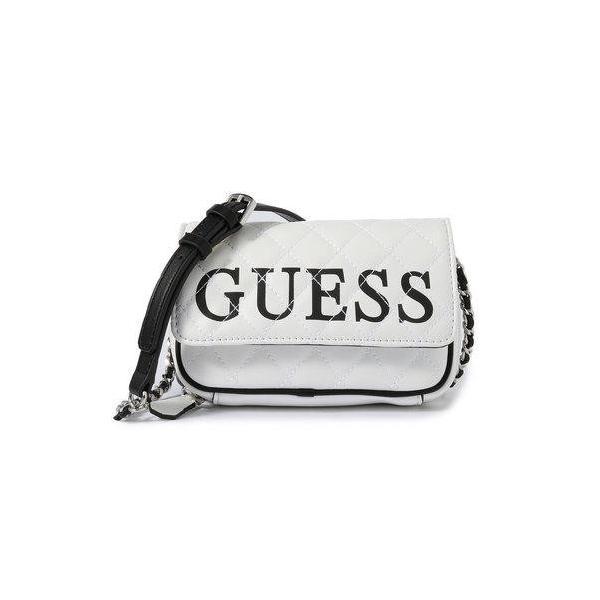 ゲス GUESS CALIFORNIA DREAM CONVERTIBLE CROSSBODY BELT BAG (WHITE MULTI)