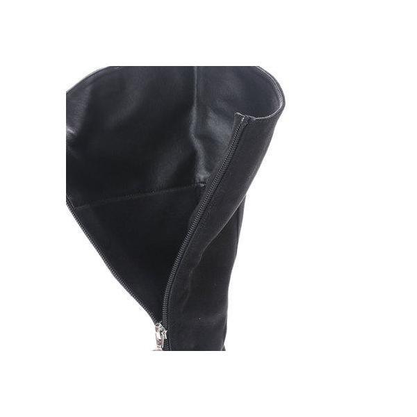 ジェリービーンズ JELLY BEANS メタルリングファスナーロングブーツ 207-521 (黒S)