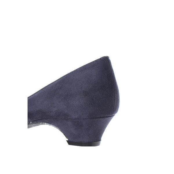 ジェリービーンズ JELLY BEANS ポインテッドローヒールカラーパンプス 123-2125 (紺S)