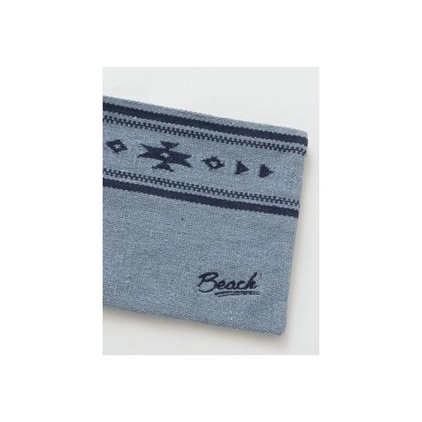 【Kahiko】ビーチオルテガクラッチバッグ ネイビー