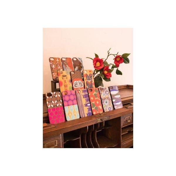 【カヤ】iPhone8/7兼用 木製スマホケース茶 和モダンプリント その他5