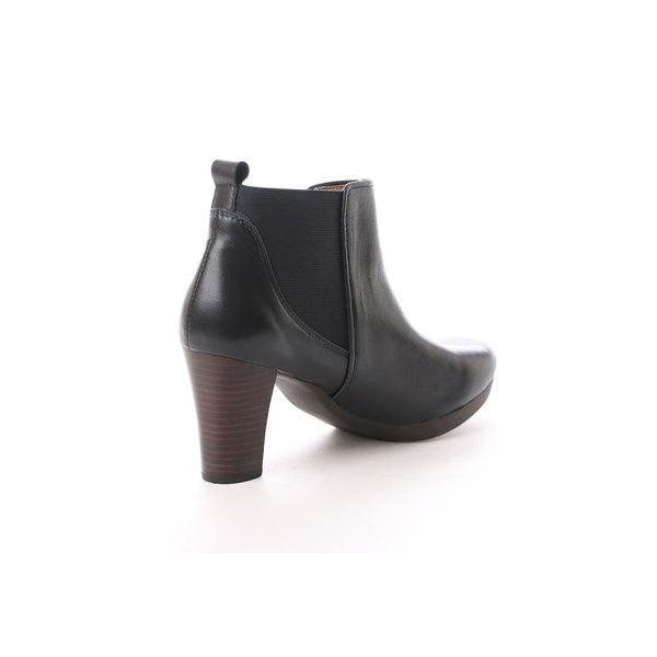 キスコ KISCO 【羊革】サイドゴアヒール高ブーツ (ネイヴィー)