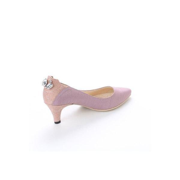 ルキオネ Le Chione バックビジュードレスアップパンプス 124-6543 (ピンク)