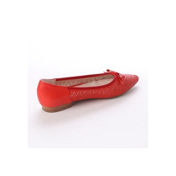 モデロ modello 爽やか+清涼感 パンチングバレエシューズ   MOD635 (RED)