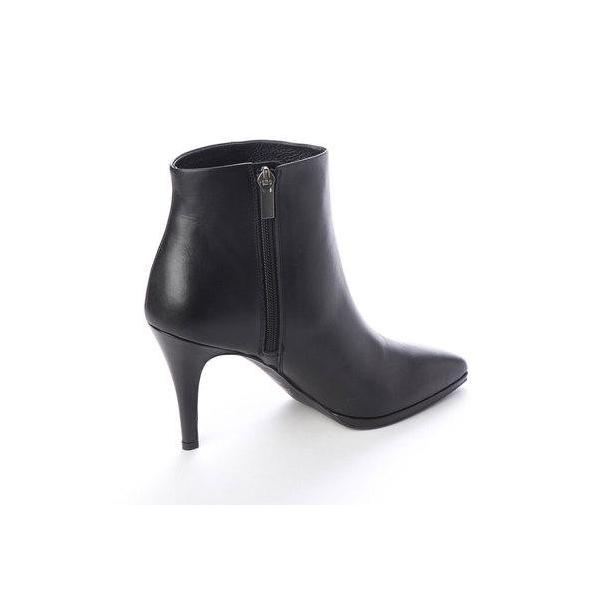 プールサイド POOLSIDE シンプルショートブーツ (ブラック)