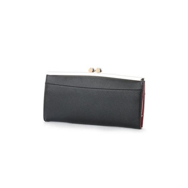 スパイラルガール SPIRAL GIRL シンプルラインがま口長財布 (ブラック)