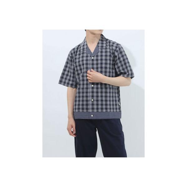 タケオ キクチ TAKEO KIKUCHI 半袖布帛前開きシャツ (コン)