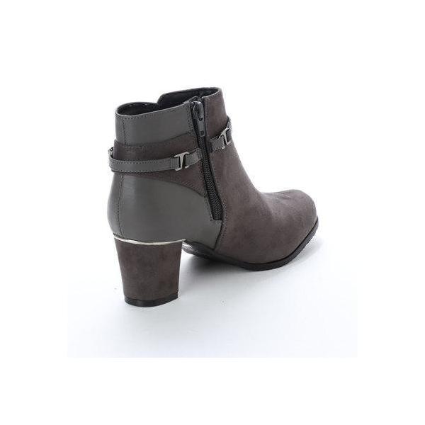 テーン tehen 6.5cmヒール足囲2E撥水ブーツ  TN9033 (GRY-S)