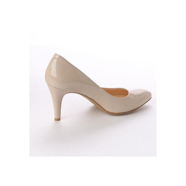 アンタイトル シューズ UNTITLED shoes パンプス (ヌードベージュエナメル)