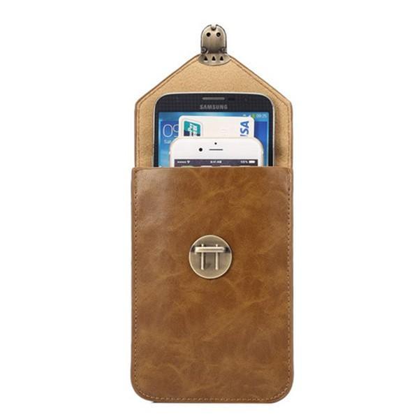 ウェストポーチ 大容量 ウイングバッグ ベルトポーチ アウトドア スマホポーチ 小型 腰 鞄 iphone 収納 お財布入れ 2WAY ショルダー付き PU革 撥水
