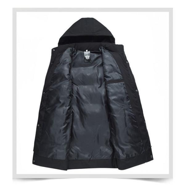 ダウンジャケット メンズ ダウンコート フード付き 軽量 保温アウター 防風防寒 男性 ジャケット メンズ ブランド 高級 通勤 無地 大きいサイズ|locoprime|04