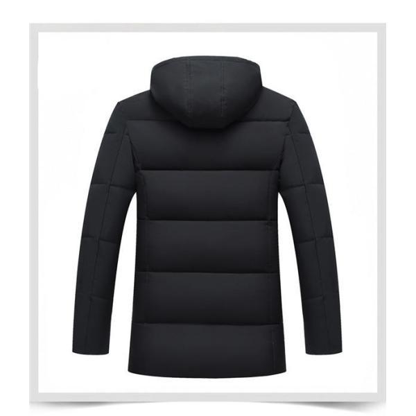 ダウンジャケット メンズ ダウンコート フード付き 軽量 保温アウター 防風防寒 男性 ジャケット メンズ ブランド 高級 通勤 無地 大きいサイズ|locoprime|05