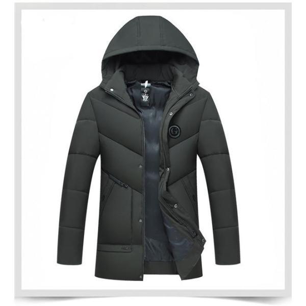 ダウンジャケット メンズ ダウンコート フード付き 軽量 保温アウター 防風防寒 男性 ジャケット メンズ ブランド 高級 通勤 無地 大きいサイズ|locoprime|06