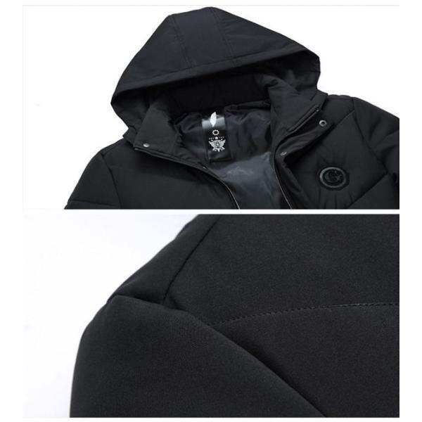 ダウンジャケット メンズ ダウンコート フード付き 軽量 保温アウター 防風防寒 男性 ジャケット メンズ ブランド 高級 通勤 無地 大きいサイズ|locoprime|07