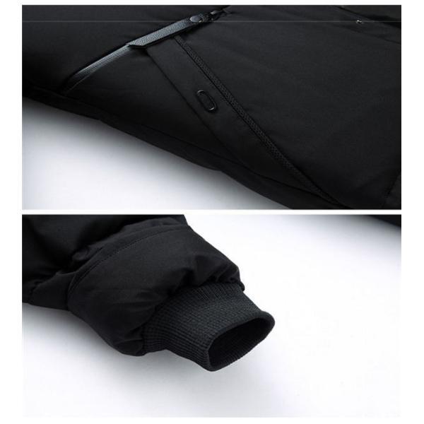 ダウンジャケット メンズ ダウンコート フード付き 軽量 保温アウター 防風防寒 男性 ジャケット メンズ ブランド 高級 通勤 無地 大きいサイズ|locoprime|08
