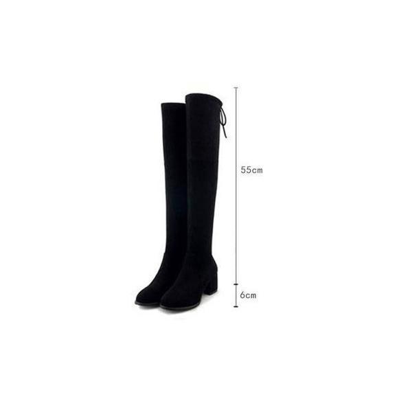 ブーツ レディース ロング丈 ハイヒール スエード 膝丈 歩きやすい 疲れない 防滑 裏起毛 防寒 暖かい 大きいサイズ 脚長 美脚 靴