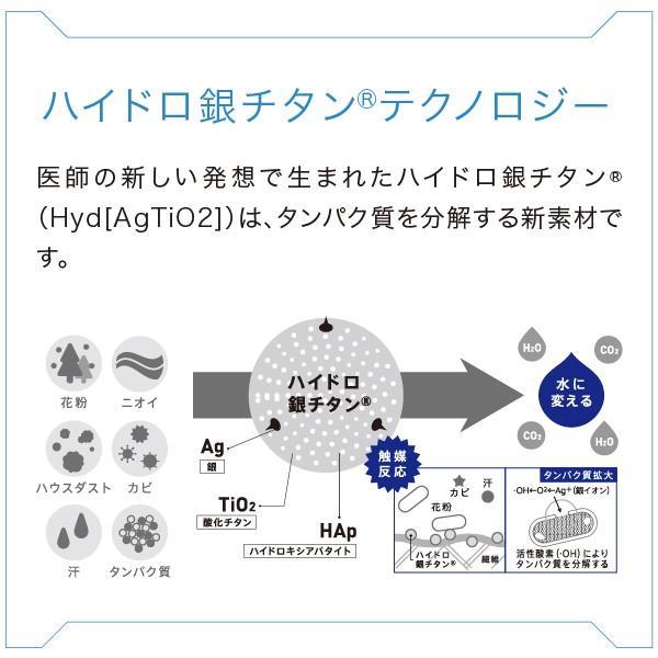 花粉のタンパク質を水に変えるまくら「花粉プロテクトピロー&ピローケース」ロフテー×DR.C医薬 ハイドロ銀チタン使用 花粉を水に変える lofty 03